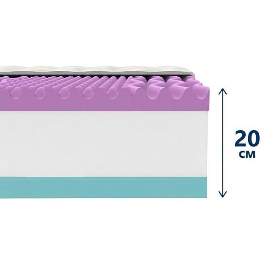 Двулицев матрак Lavender Cool Memory NEW