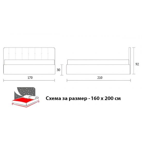 Тапицирано легло Модел 11